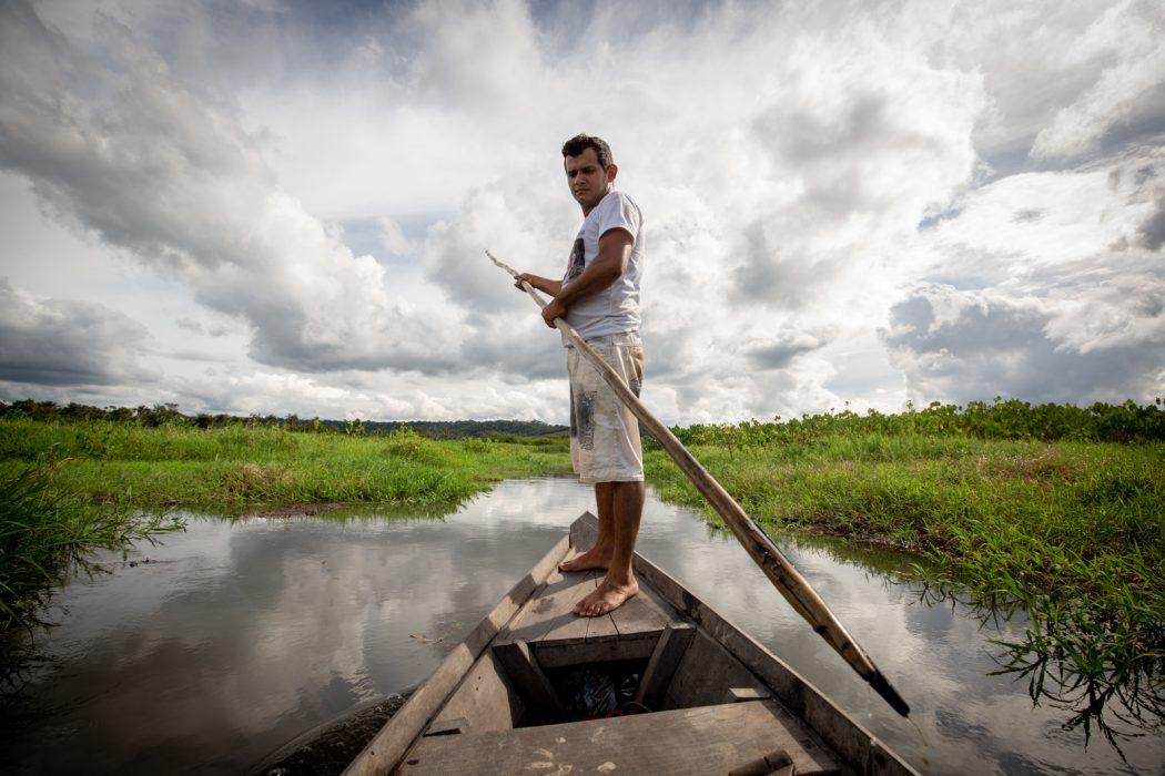 Importante fonte de alimentação dos Munduruku do Planalto, os igarapés que desaguam no lago Maicá estão ameaçados pelo desmatamento em suas cabeceiras e pela contaminação por agrotóxicos usados nas lavouras de soja. Foto: Tiago Miotto/Cimi