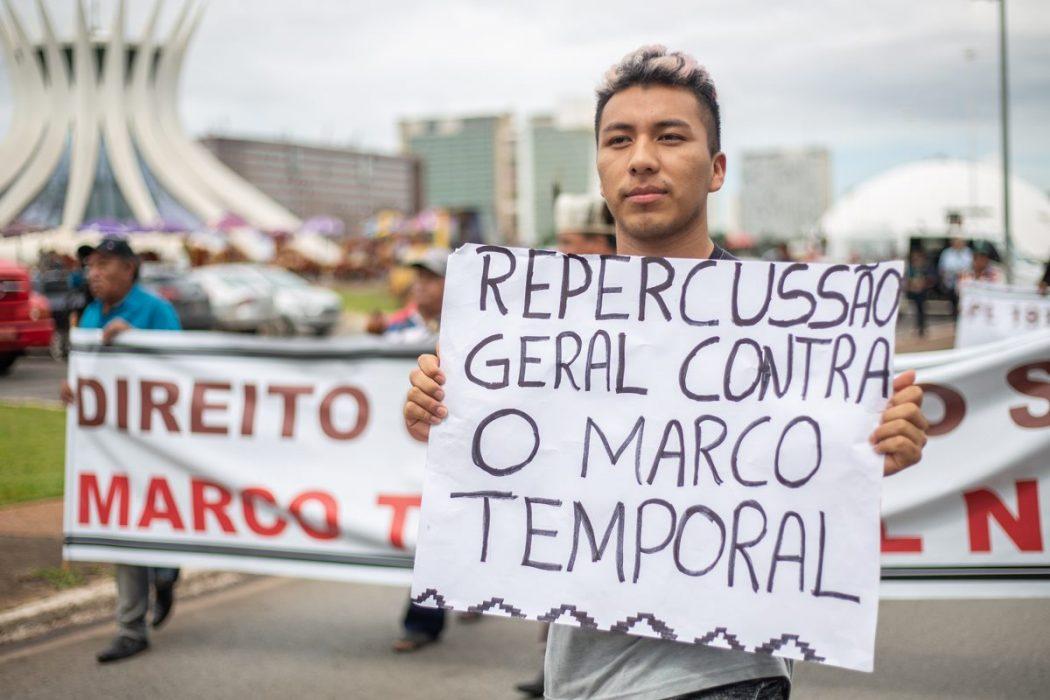 Os povos indígenas reafirmam sua posição contra o marco temporal. Foto: Tiago Miotto/Cimi