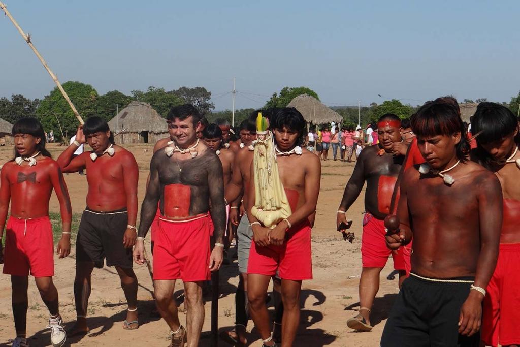 Povo Xavante na Terra Indígena São Marcos. Foto: Agência Info Salesiana