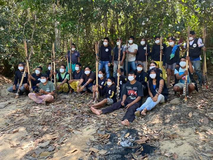 Equipe de monitoramento e fiscalização do território Uru Eu Wau Wau. Foto: Cimi Regional Rondônia