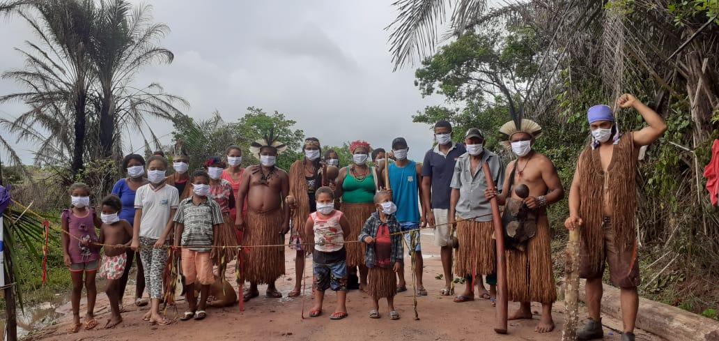 Barreira sanitária da Terra Indígena Comexatibá, na Bahia. Foto: Povo Pataxó