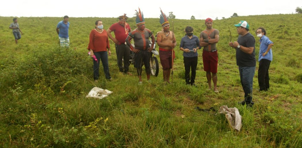 Diligência realizada no dia 16 de fevereiro foi até o local do assassinato de Isac Tembé. Foto: Raimundo Paccó