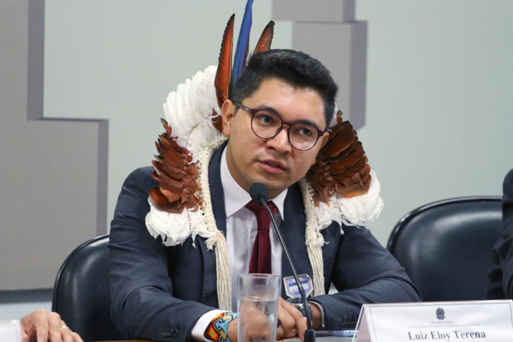 Luiz Eloy Terena, assessor jurídico da Articulação dos Povos Indígenas do Brasil (APIB). Foto: Vinicius Loures/Agência Câmara