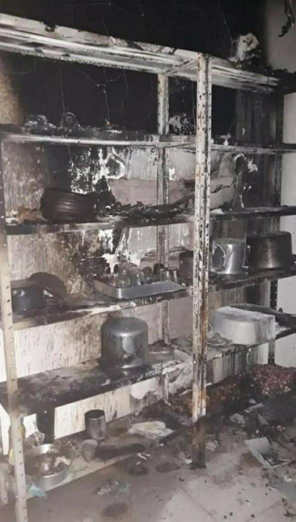 O que restou da Casa de Medicina Tradicional Xakriabá. Foto: Povo Xakriabá