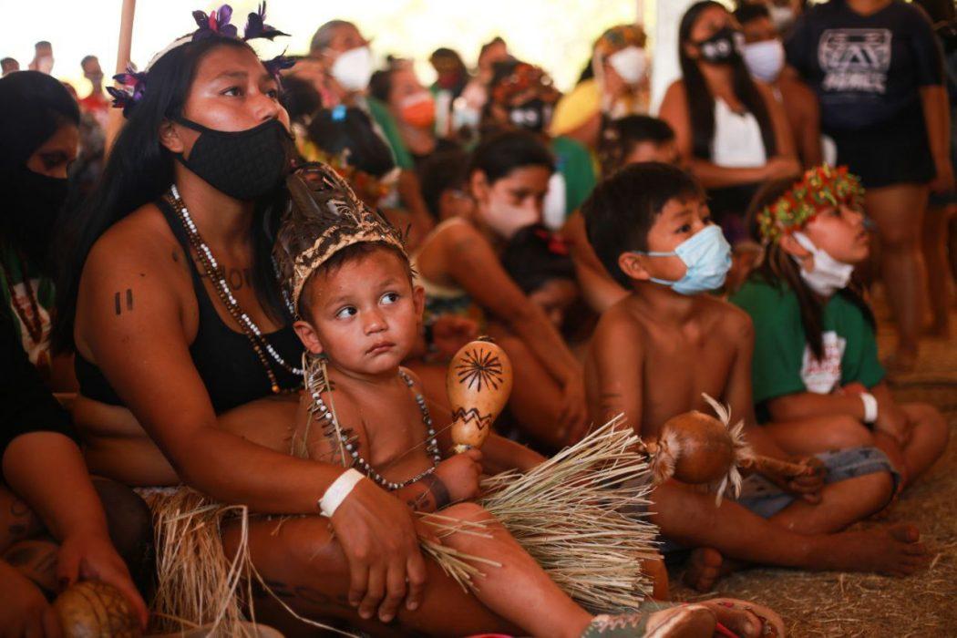 Segundo dia II Marcha Nacional das Mulheres Indígenas foi marcado por ritual em memória às meninas indígenas Raissa Guarani Kaiowá e Daiane Kaingang, violentadas e mortas neste ano. Foto: Duda Dusi